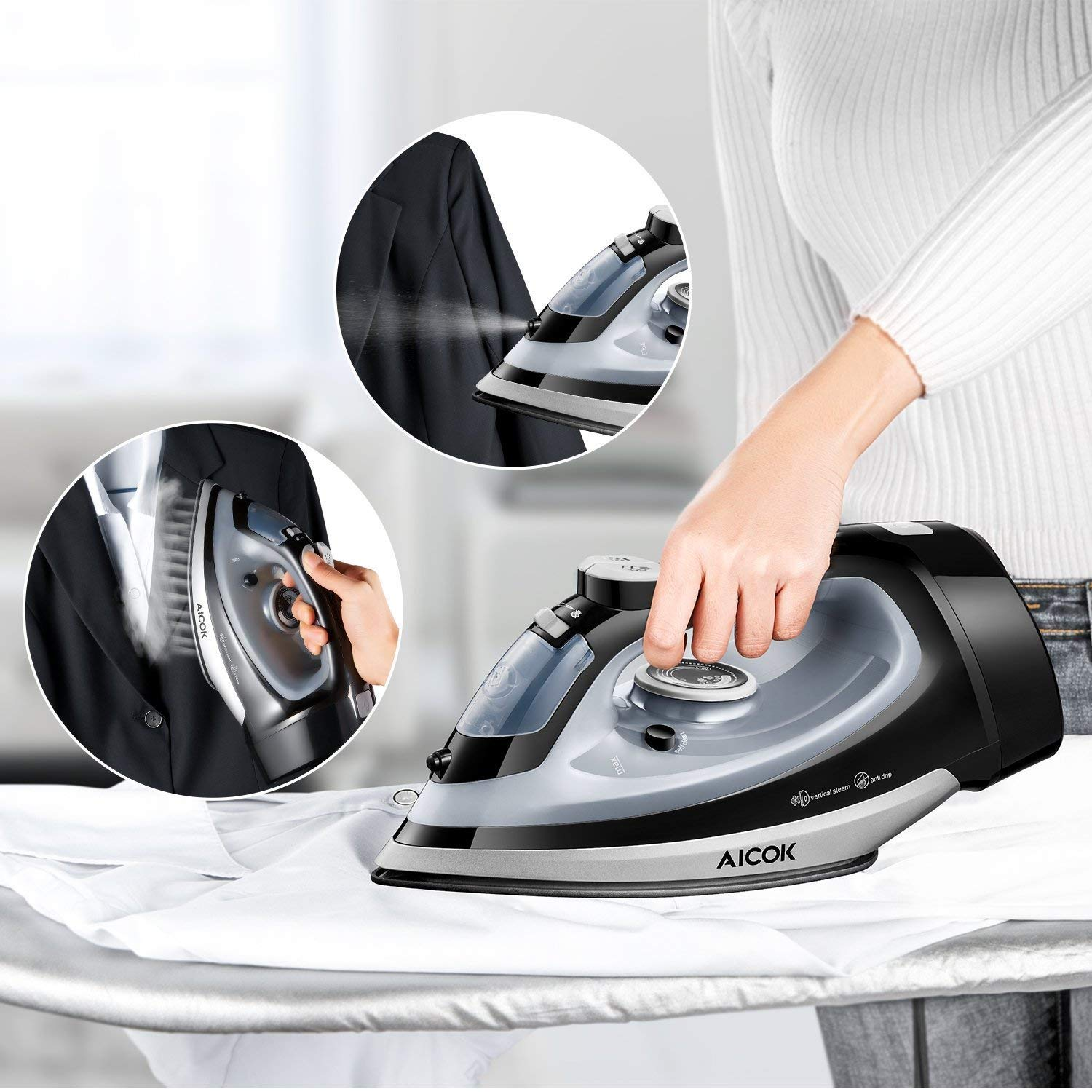 AICOK Steam Iron features