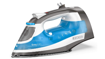 Blue Black /& Decker BLACK+DECKER Allure Professional Steam Iron D3030