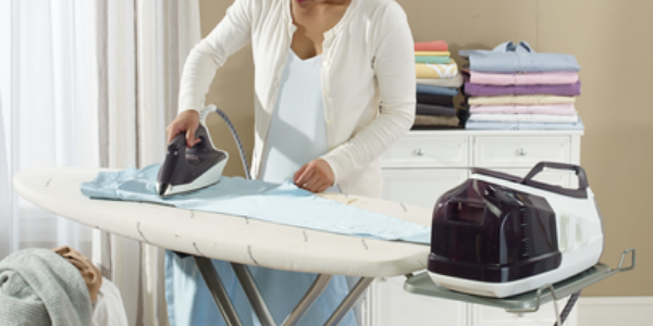 Rowenta Pro Precision Steam Station On An Ironing Board
